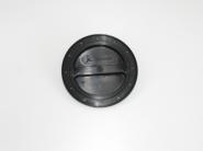 Inspektionsdeckel schwarz 100 mm